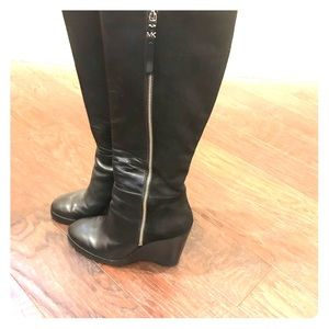 Michael Kors Black Wedge Boots-Women's size 9.5